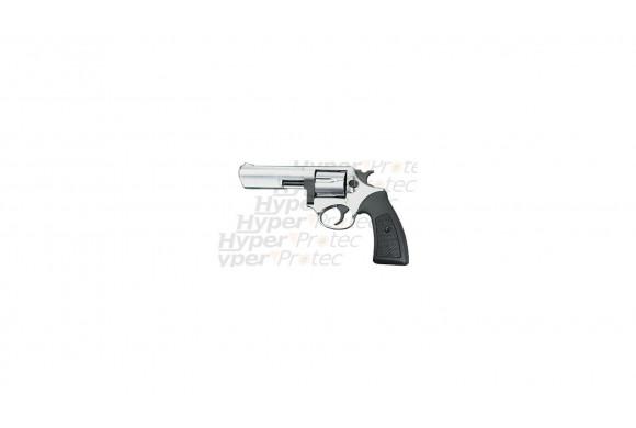 Revolver alarme chromé power canon 4 pouces