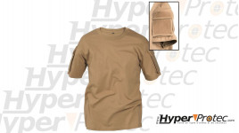 tee shirt Coyote pas cher coupe tactique avec poche discrète sur manche
