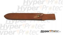 Dague de chasse à servir lame 28 cm avec étui en cuir