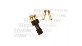 Speedloader et 6 douilles Dan Wesson billes acier 4.5 mm