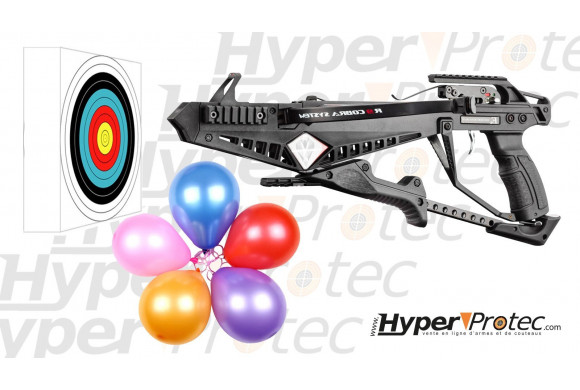 Pack Fun tir Arbalète EK Cobra R9 90 livres avec cible et ballons