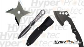 Pack à lancer avec hache couteau et shuriken