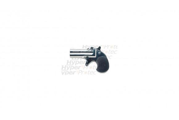 Derringer chromé - Revolver Alarme 6 mm