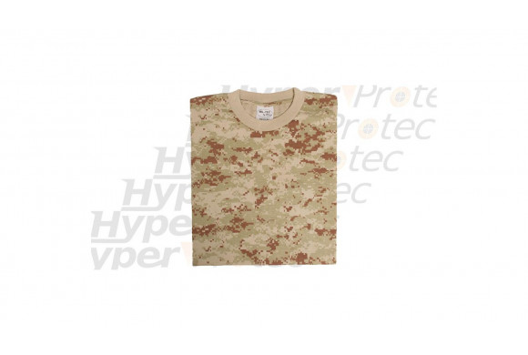 Tee-shirt 3D digital desert camo - Taille XXL