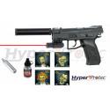 Pistolet de défense à balles caoutchouc GC27 avec laser Gom cogne Cal 12 50