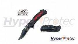 Couteau de poche pliant Red dragon avec ouverture assistée