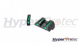 Hausse et guidon en fibre optique pour glock avec clé de montage
