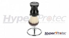 Support en acier inoxydable pour blaireau de barbier