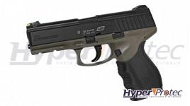 Pistolet de défense à balles caoutchouc double canon GC54 tactique avec laser - cal 12 50