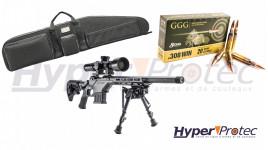 Pack tout équipé Carabine Savage 10 BA Stealth 308win