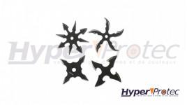 Lot de 4 mini shurikens à lancer noir