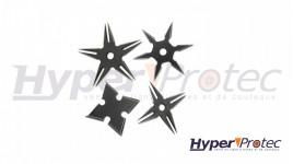 Lot de 4 mini étoiles de ninja à lancer noir