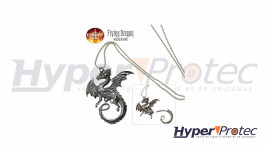 Collier pendentif dragon avec lame cachée