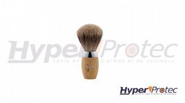 Blaireau de barbier en poils véritable et bois d'olivier