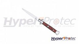 Couteau italien automatique manche stamina rouge 12 cm