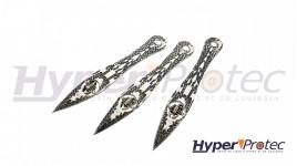 Un set de 3 couteaux de décoration 17 cm Fantasy Master décor Scorpion