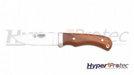 Poignard de chasse cudeman Safari avec manche cocobolo et étui en cuir bordeau