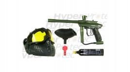 Pack Paintball Spyder Sonix vert mat avec masque - calibre 68