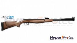 Carabine à plombs Stoeger crosse bois RX40 4.5 mm 20 J à canon fixe équipée d'une lunette 3-9x40AO