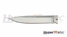 Couteau papillon entièrement en métal finition silver