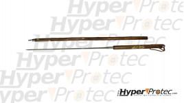 Bâton de marche en châtaignier avec boussole et lame épée ou baïonnette