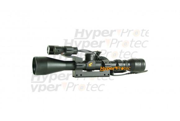 Lunette de tir Gamo 3-9x40 WR Vampir laser et lampe