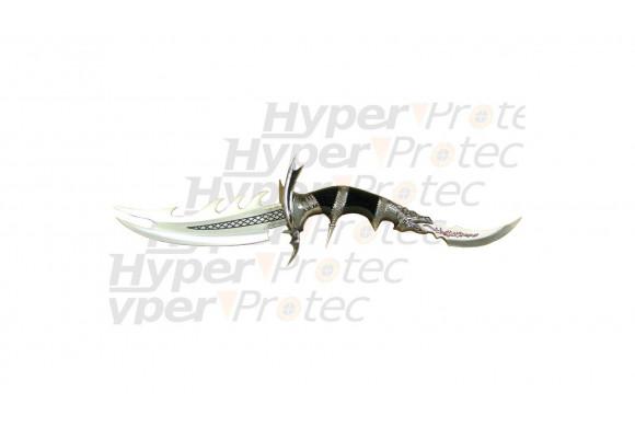 Couteau de décoration bi-lame et manche