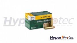 Sellier & Bellot Cartouches Calibre 30 Carbine FMJ - 50 Pièces