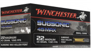 Winchester Munitions Subsonic 22 Magnum 45 Grains - 50 Pièces