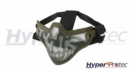 Masque Grillagé Airsoft Ultimate tactical Camouflage Vert / Blanc