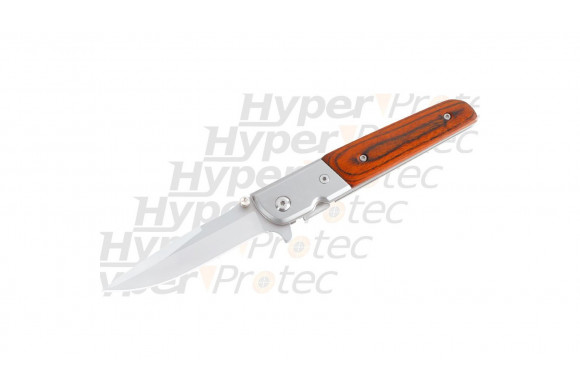 Couteau pliant ouverture assistée - Classic Wood