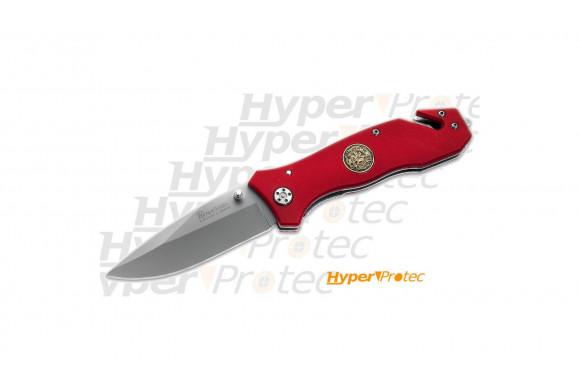 Couteau pliant Pompier Fire Dept rouge