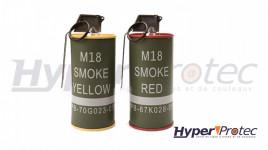 G&G Grenades Fumée M18 BBS - Jaune & Rouge