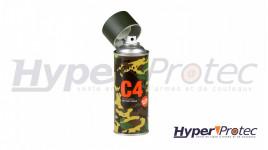 Spray Peinture C4 Mil Grade RAL6007 - Vert Bouteille Mat