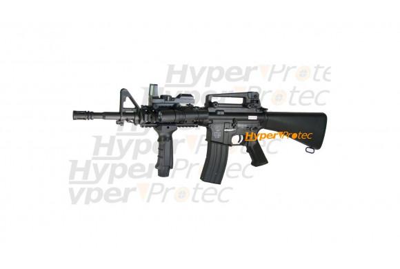 Colt M4A1 RIS crosse pleine électrique +poignée +lampe +viseur