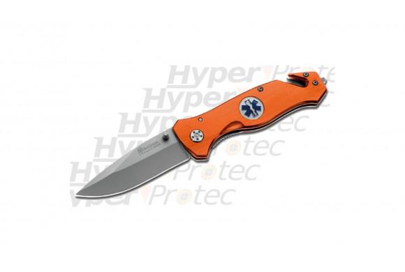 Couteau pliant Paramédical Ambulancier Orange