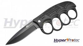 Couteau Pliant Poing Américain  Aluminium Noir Max Knive