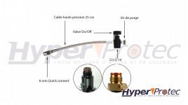 Adaptateur PCP pour bouteille d'air portatif avec système de purge