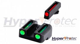 Kit Visée fibre optique Truglo pour Glock