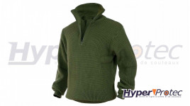 Pull Troyer Vert Olive Pull camionneur pas cher