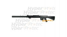 Carabine snipeur GR25 tout métal avec silencieux