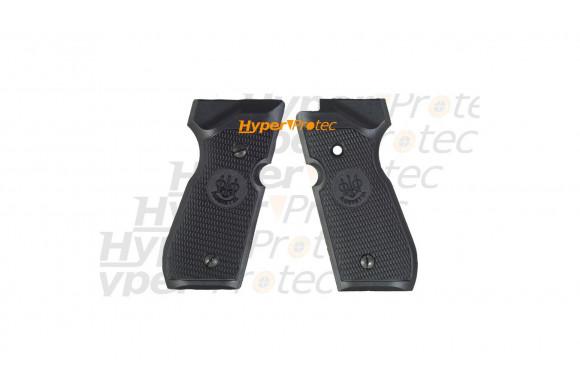 Plaquettes de crosse noires pour Beretta 92 à plombs