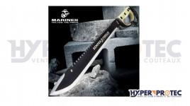 Machette USMC United Cutlery Semper Fi Sawback D-guard avec fourreau