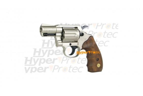 Colt Detective Special nickel crosse bois - revolver 9mm