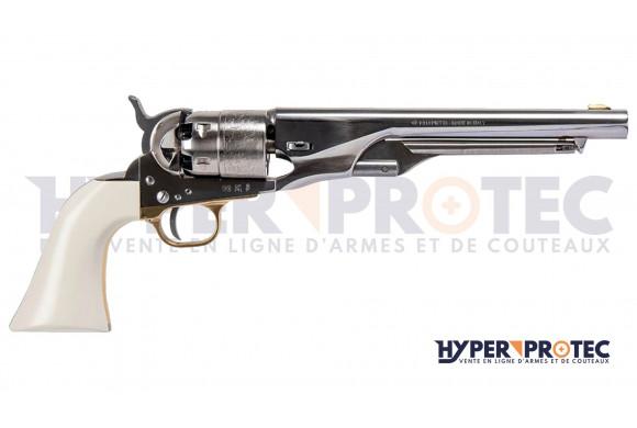 Revolver Poudre Noire Pietta 1860 Army Old Silver Ivoirine
