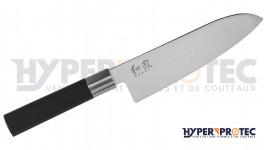 Couteau Santoku KAI Wasabi black