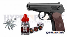 Pistolet Bille Acier Borner PM-X