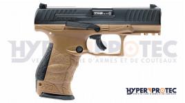 Pistolet CO2 Walther PPQ M2 T4E - cal .43 couleur Tan ou gris tungsten