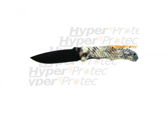 Couteau pliable lame noire - Jungle