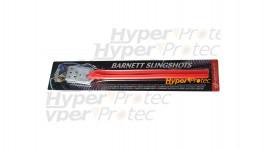 Elastique tubulaire rouge pour lance-pierre Barnett